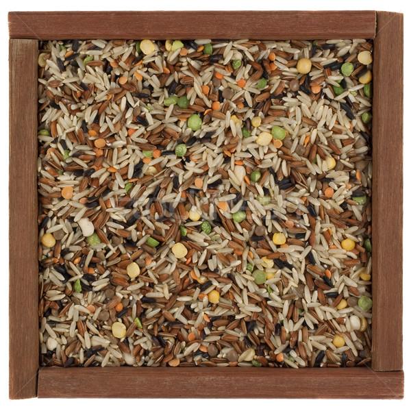 pilaf mix in a wooden box Stock photo © PixelsAway