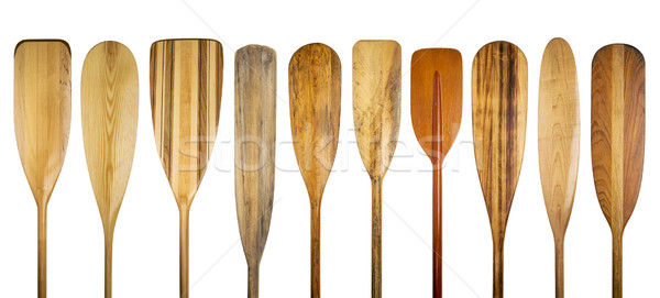 wooden canoe paddles Stock photo © PixelsAway