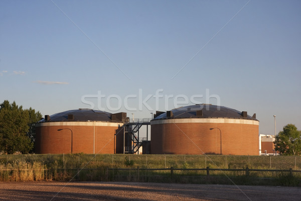 biotowers of water reclamation plant Stock photo © PixelsAway
