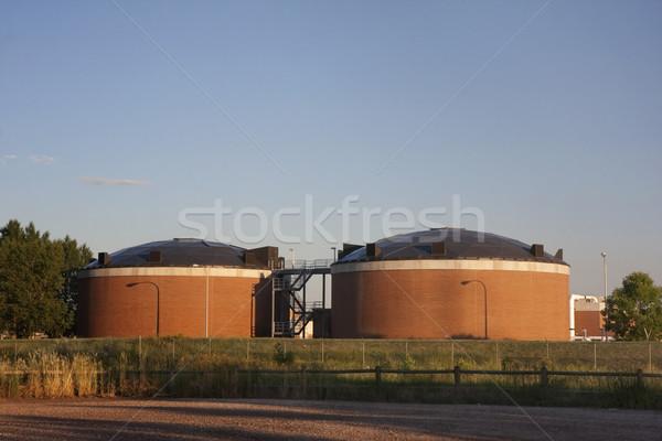 воды завода два кирпичных объект форт Сток-фото © PixelsAway