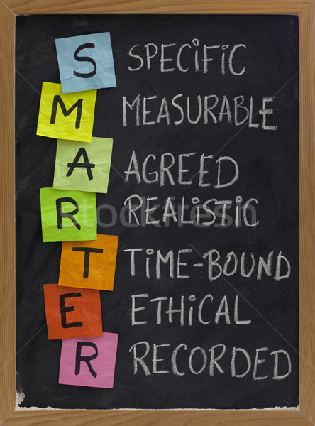 smart (smarter) goal setting Stock photo © PixelsAway