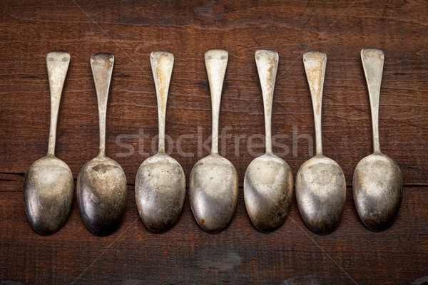 silver tablespoons with patina  Stock photo © PixelsAway