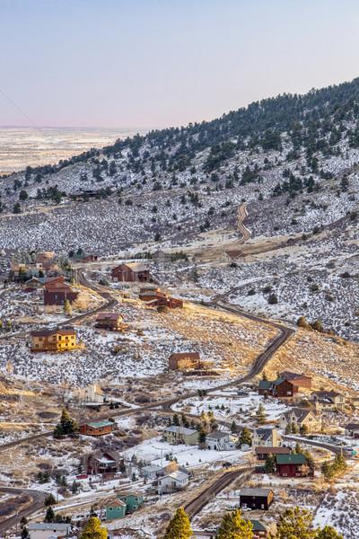 Montanha vida Colorado casas montanhas forte Foto stock © PixelsAway