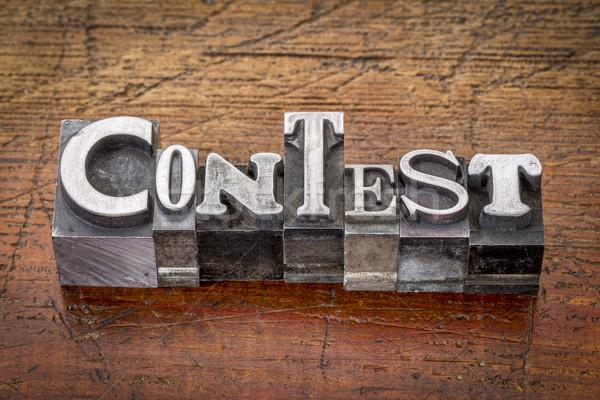 contest in metal type Stock photo © PixelsAway