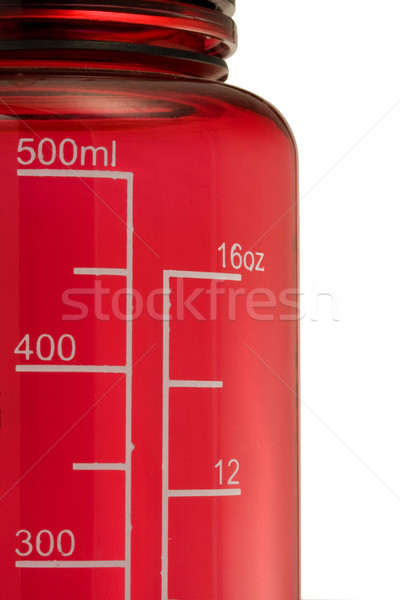 Doble escala fluido potable botella rojo Foto stock © PixelsAway