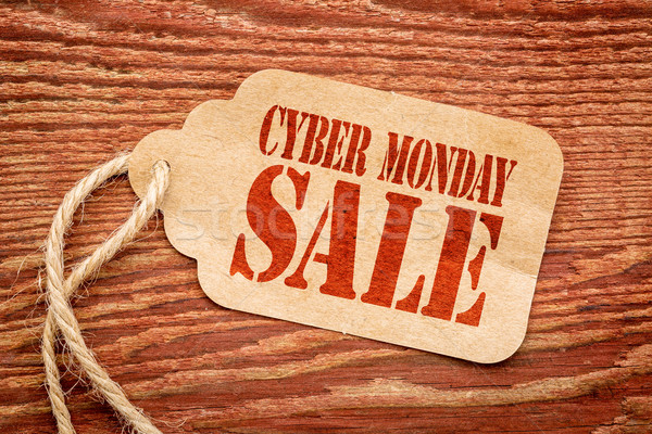 Cyber Monday  sale sign on price tag Stock photo © PixelsAway