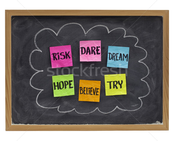 dare to try - motivational concept Stock photo © PixelsAway