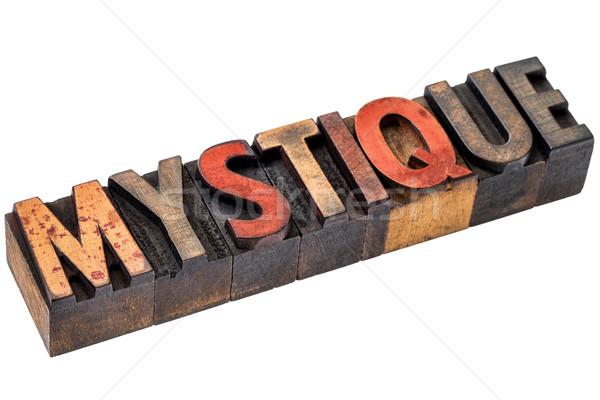 Stockfoto: Woord · abstract · hout · type · geïsoleerd · banner