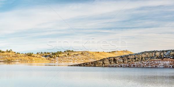 водохранилище Панорама зима после полудня форт воды Сток-фото © PixelsAway