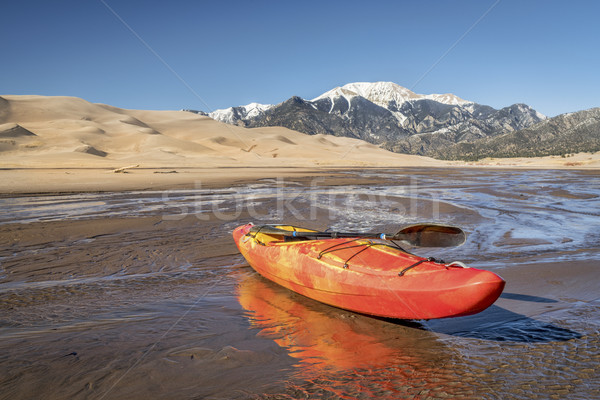 whitewater kayak in shallow water Stock photo © PixelsAway