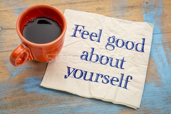 Feel good about yourself Stock photo © PixelsAway
