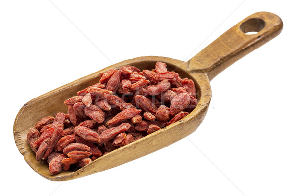 rustic scoop of goji berries Stock photo © PixelsAway
