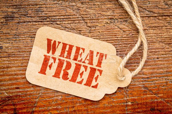 wheat free sign  paper price tag  Stock photo © PixelsAway