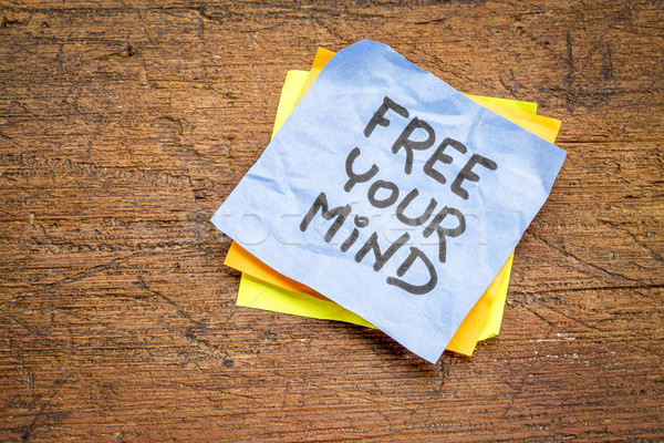 free your mind advice or reminder note Stock photo © PixelsAway