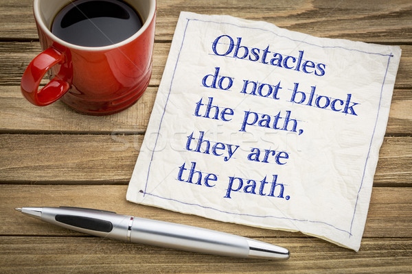 Obstacles do not block the path ... Stock photo © PixelsAway