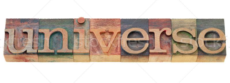 Universo palabra tipo aislado vintage Foto stock © PixelsAway