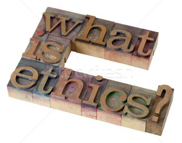 what is ethics? Stock photo © PixelsAway