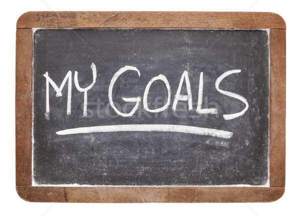my goals on blackboard Stock photo © PixelsAway