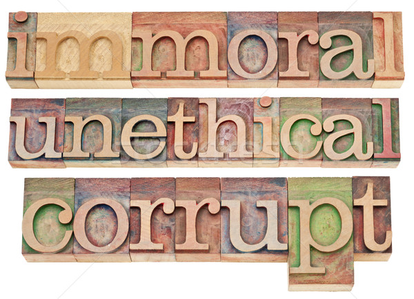 immoral, unethical, corrupt Stock photo © PixelsAway