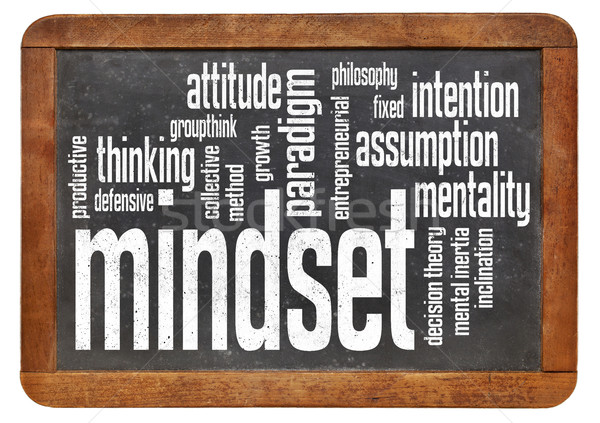 mindset word cloud Stock photo © PixelsAway