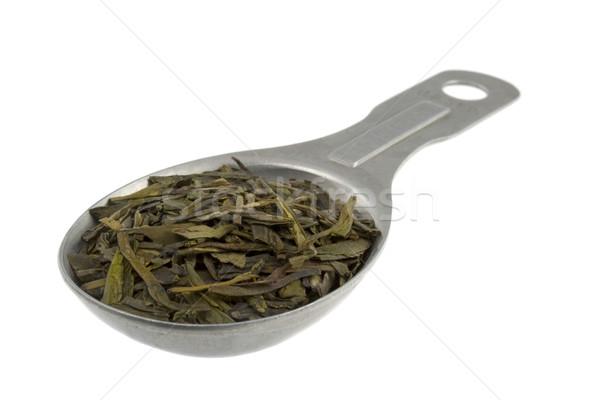 Completo foglia sciolto tè verde vecchio alluminio Foto d'archivio © PixelsAway