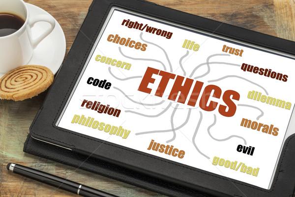 ethics word cloud or mind map Stock photo © PixelsAway