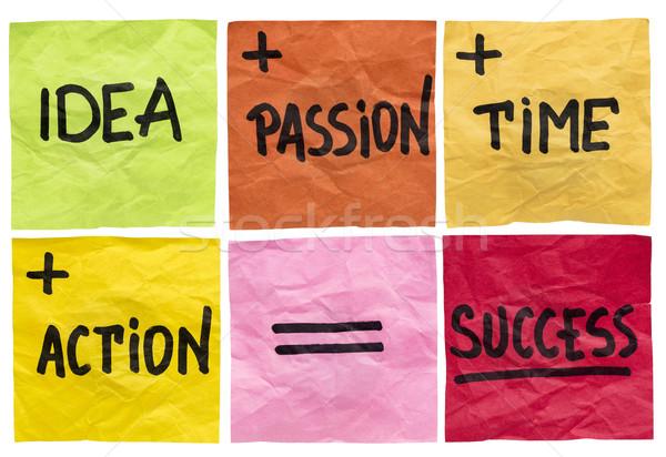 ストックフォト: 成功 · 材料 · 式 · アイデア · 情熱 · 時間
