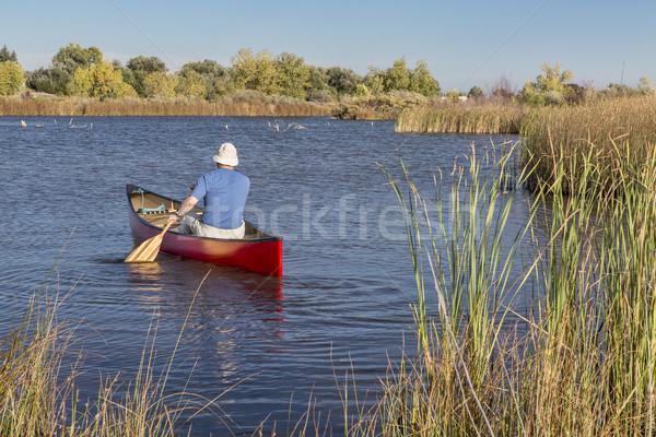 afternoon canoe paddling Stock photo © PixelsAway