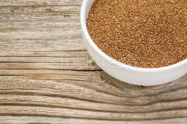 Graan kom klein keramische glutenvrij verweerde Stockfoto © PixelsAway