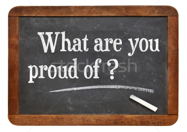 What are you proud of? Stock photo © PixelsAway