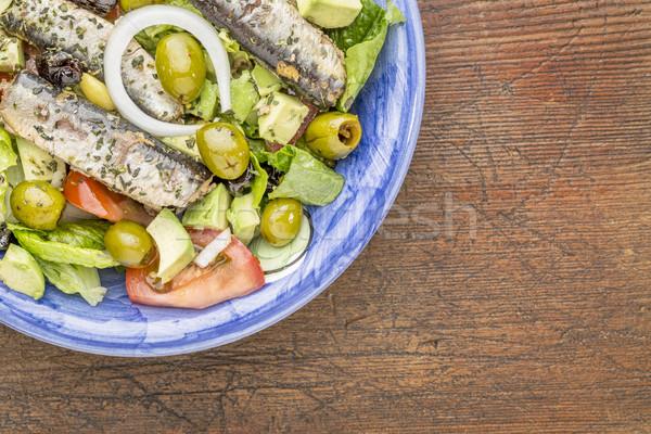 sardine salad Stock photo © PixelsAway