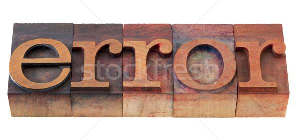 Stok fotoğraf: Hata · kelime · tip · bağbozumu · ahşap