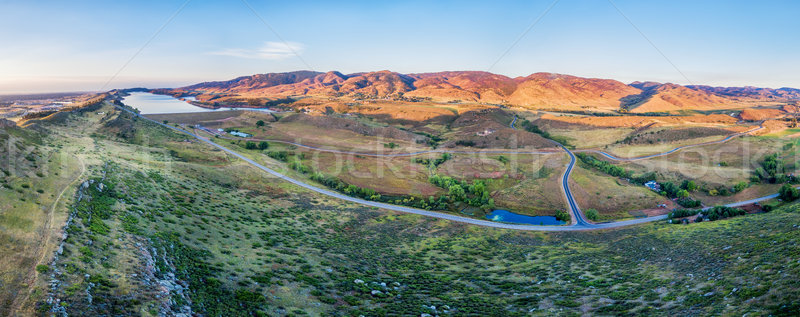 aerial panorama of foothills at Fort Collins Stock photo © PixelsAway