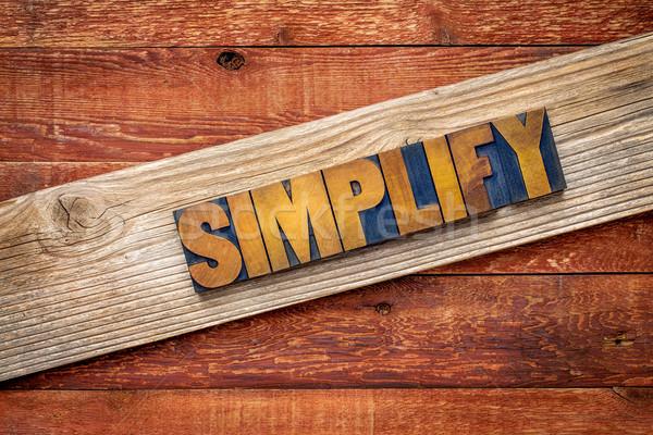 simplify word - rustic sign  Stock photo © PixelsAway