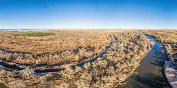 aerial view of eastern Colorado landscape Stock photo © PixelsAway