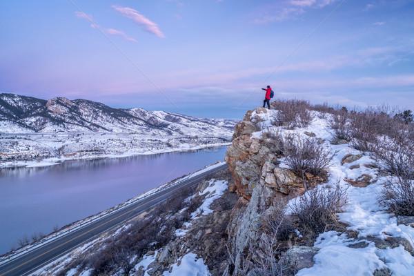 hiking Colorado before sunrise Stock photo © PixelsAway