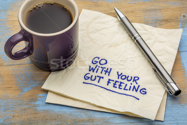 go with your gut feeling advice Stock photo © PixelsAway