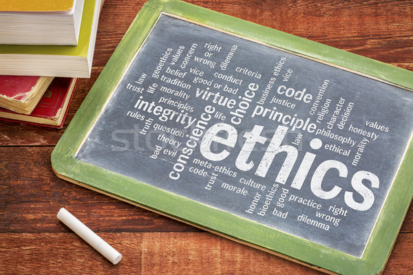 ethics and moral dilemma word cloud Stock photo © PixelsAway