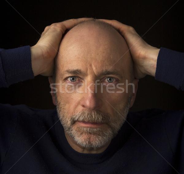 старший лысые бородатый человека 60 лет Сток-фото © PixelsAway