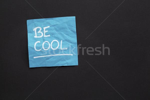 Cool karteczkę przypomnienie biały znacznik pismo Zdjęcia stock © PixelsAway
