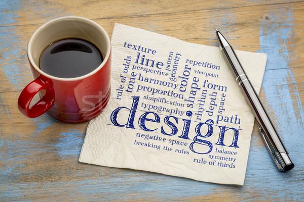 Design règles nuage de mots écriture serviette Photo stock © PixelsAway