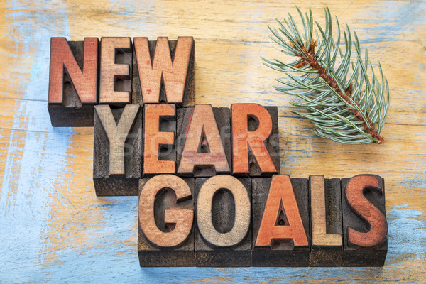 New Year goals word abstract  Stock photo © PixelsAway