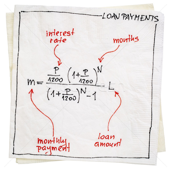 loan payment concept on napkin Stock photo © PixelsAway