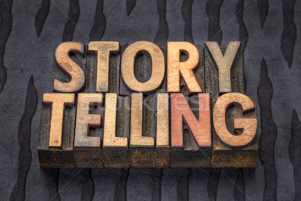 storytelling word abstract in wood type Stock photo © PixelsAway