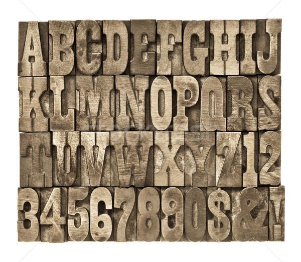 letters and numbers in vintage wood type Stock photo © PixelsAway