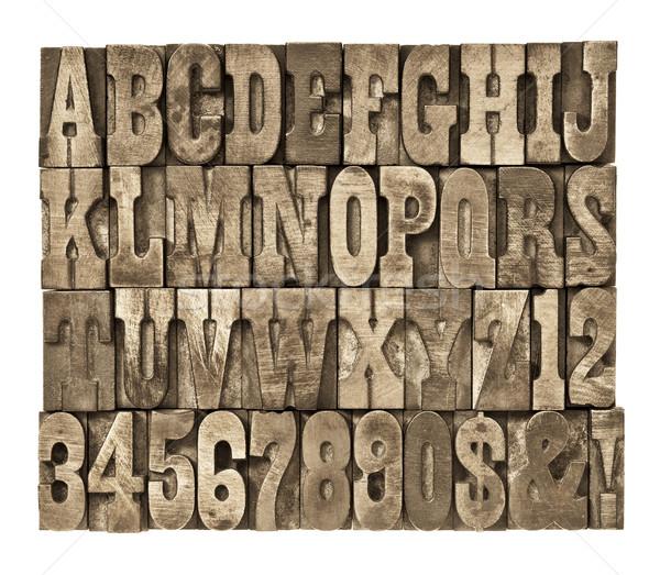 Levelek számok klasszikus fa magasnyomás Stock fotó © PixelsAway