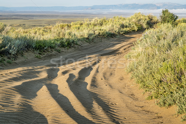 Kumlu yol kuzey kum tepeler Stok fotoğraf © PixelsAway