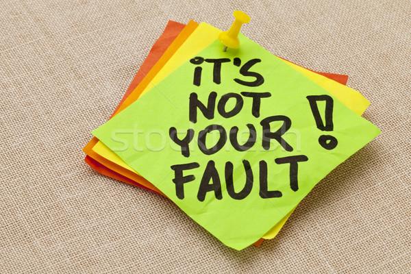 Nem hiba motivációs kézírás zöld öntapadó jegyzet Stock fotó © PixelsAway