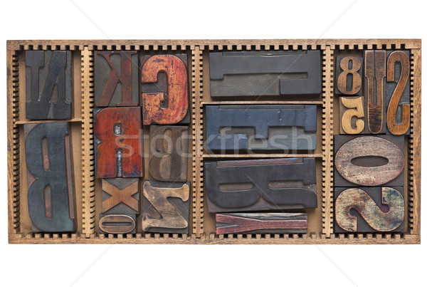 antique letters and numbers Stock photo © PixelsAway