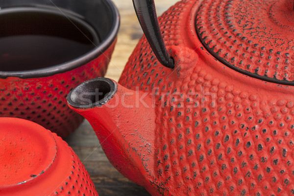 red tetsubin with cups Stock photo © PixelsAway